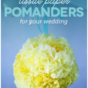 how to make tissue paper pomanders
