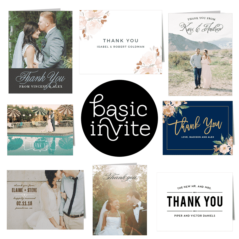 The Best Wedding Thank You Cards - Basic Invite