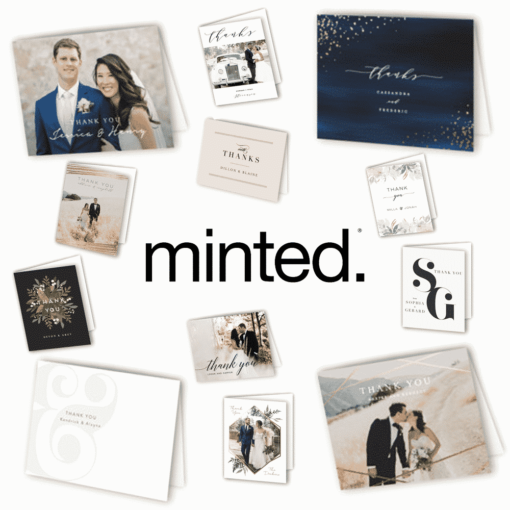The Best Wedding Thank You Cards - Minted