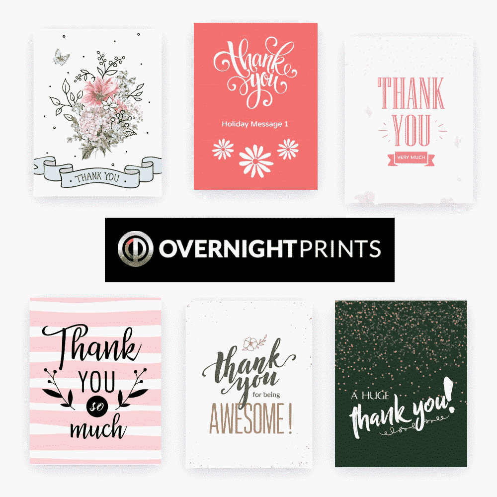 The Best Wedding Thank You Cards - Overnight Prints