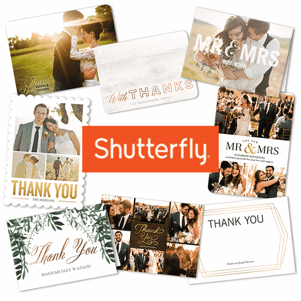 The Best Wedding Thank You Cards - Shutterfly