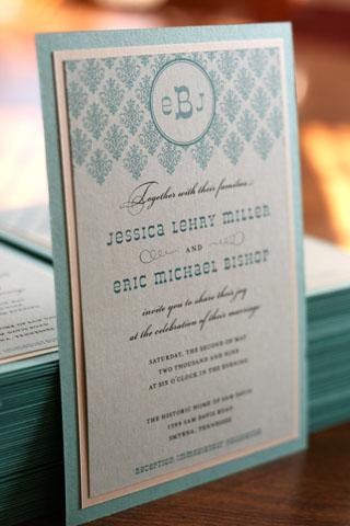 diy wedding invitation turquoise