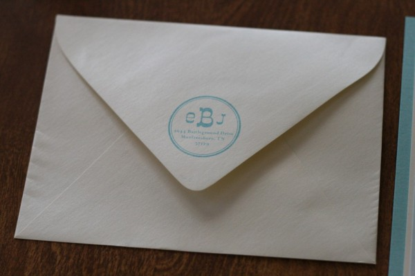 wedding invitation envelope back