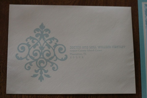 wedding invitation envelope front