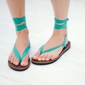 sseko teal sandals