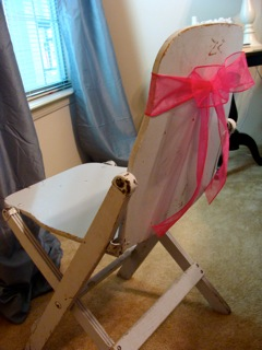 diy chair sash tutorial