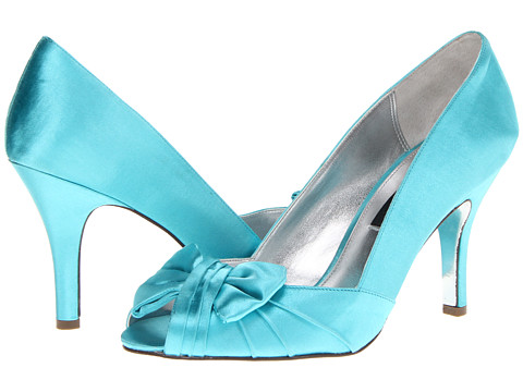bright blue wedding shoes