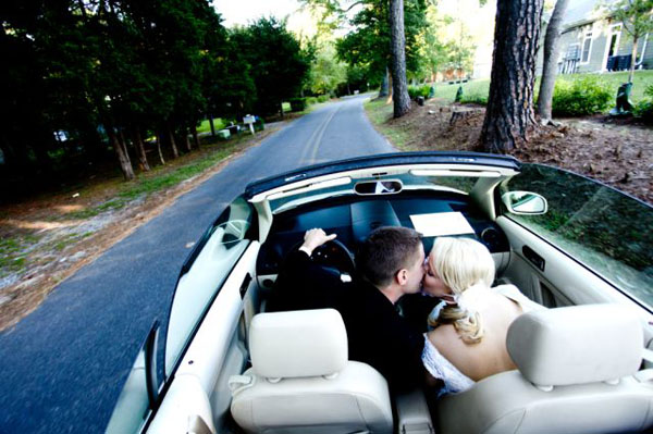 10 Convertible in Rachel + Matt and budget savvy wedding of the week