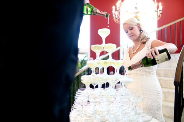 12 Champagne Tower in Rachel + Matt and budget savvy wedding of the week