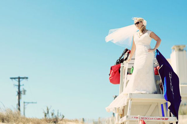 5 Lifeguard Stand in Rachel + Matt and budget savvy wedding of the week