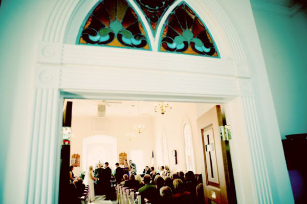 6 stained glass in Rachel + Matt and budget savvy wedding of the week