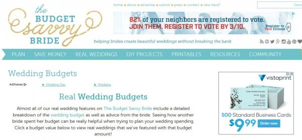 real wedding budgets