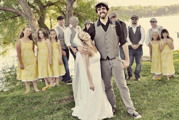 vintage yellow wedding
