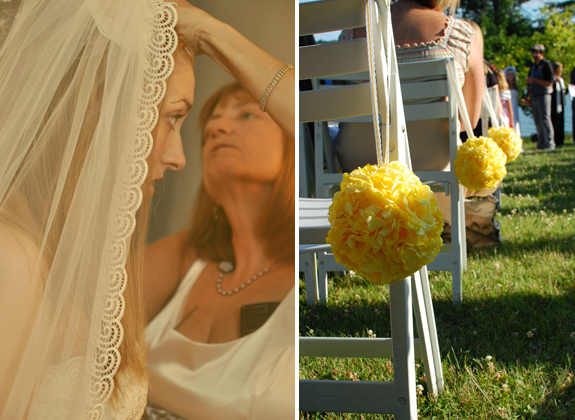 vintage yellow wedding
