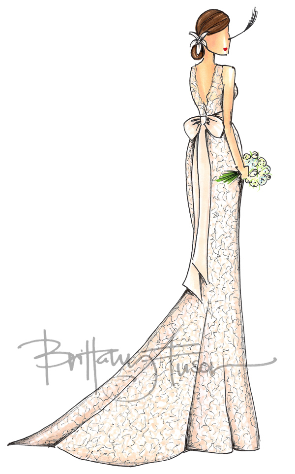 brittany fuson bridal illustration