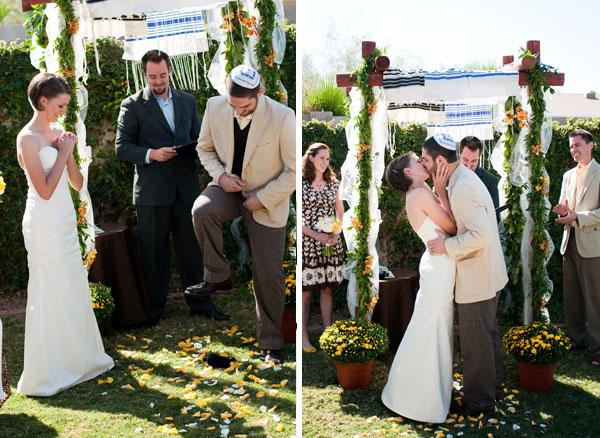 backyard wedding jewish wedding ceremony