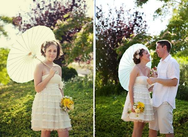 joshcara8 in Yellow + Green Backyard Wedding and budget savvy wedding of the week