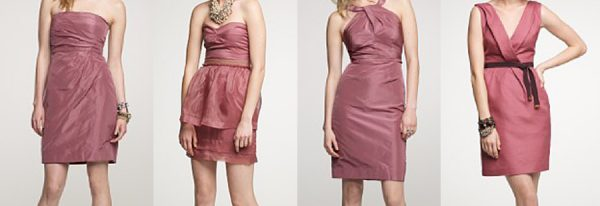 Mix-Matched Bridesmaid Dresses
