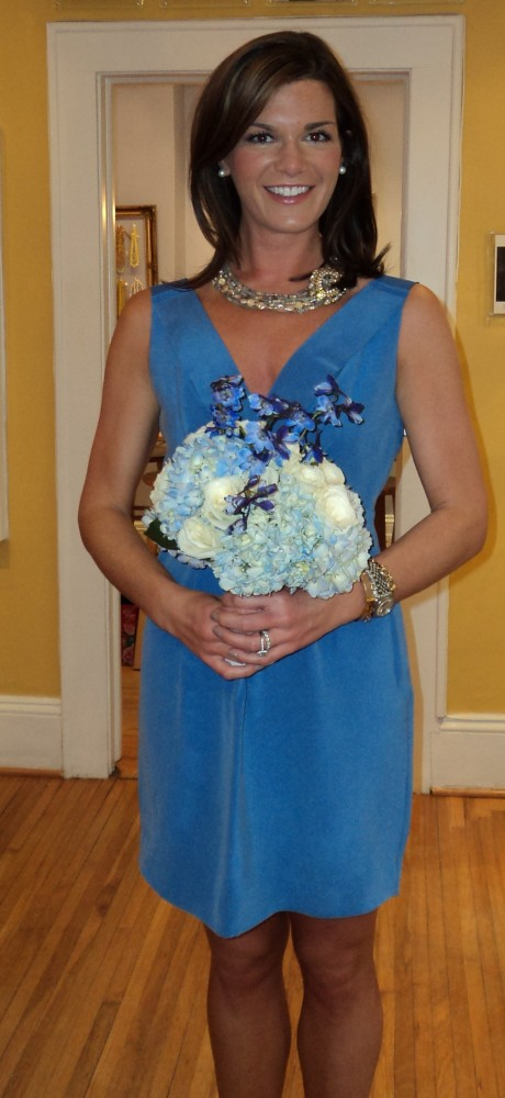 blue J.Crew Bridesmaid Dresses