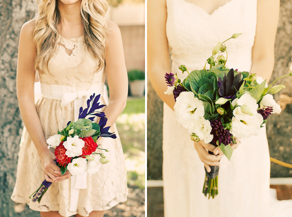 bouquets in Lian + Brynnen and budget savvy wedding of the week