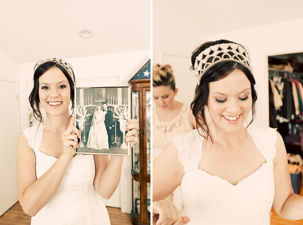 brideheadpiece in Lian + Brynnen and budget savvy wedding of the week