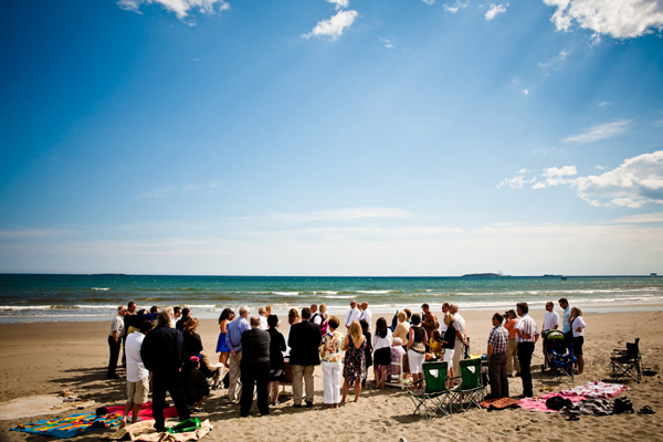 BBQ beach wedding
