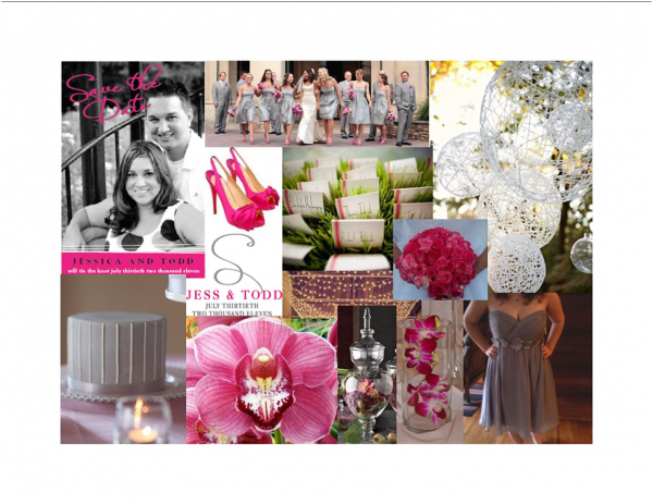 Grey & Hot Pink Inspiration Board