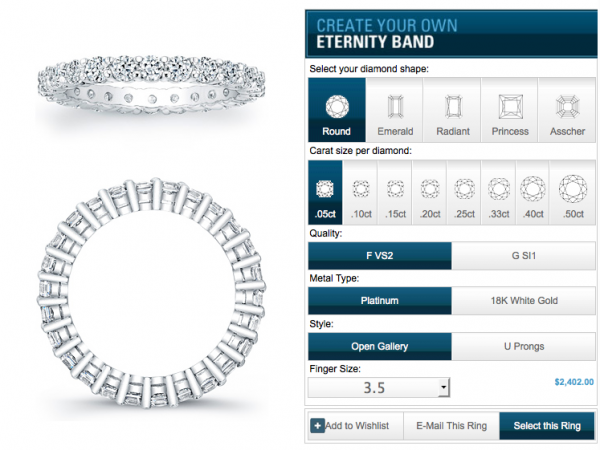 Eternity Band Designer app
