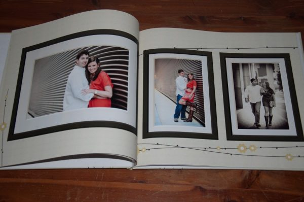 a custom photobook for wedding guest book