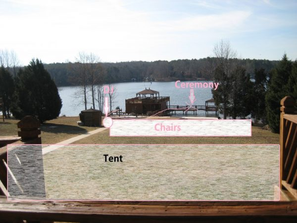 non-traditional venue lake house