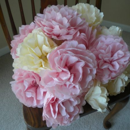 napkin paper flowers