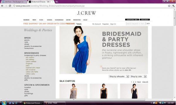 J. Crew bridal