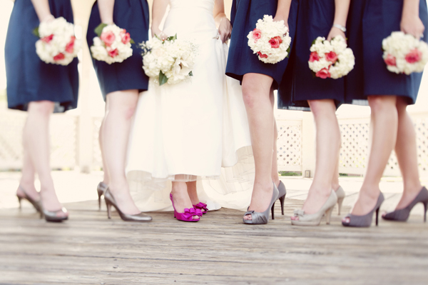 navy and yellow wedding of the week
