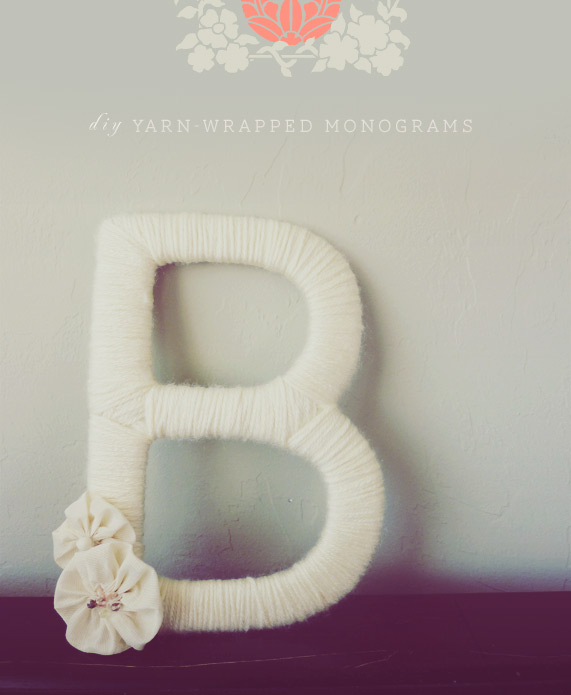 yarn wrapped monogram