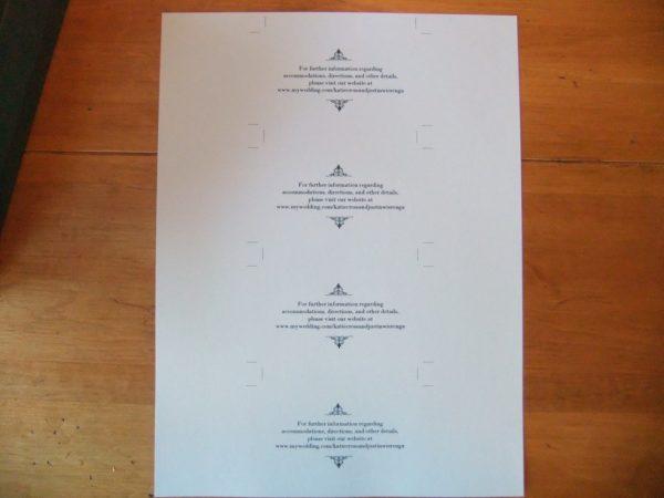 invitation inserts