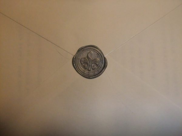 invitation inserts and wax seals