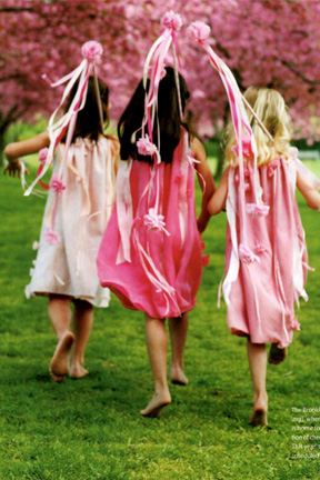 Flower Girl Dresses and Streamers