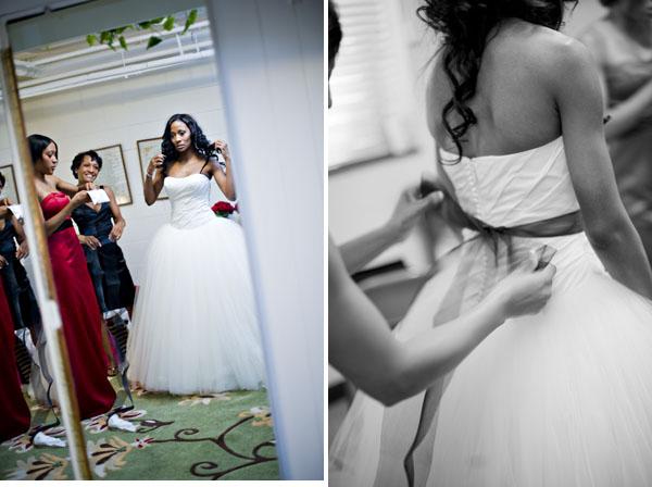 black and white Charlotte Wedding