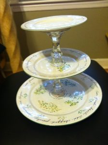 CakeStand e1330349797927 224x300 in {Maggie} DIY Cupcake Stands and diy projects blog
