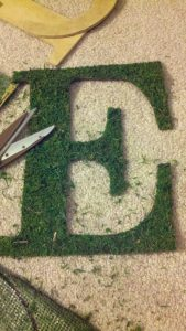 cut out moss1 169x300 in {Emily} DIY Moss Monograms and diy projects blog