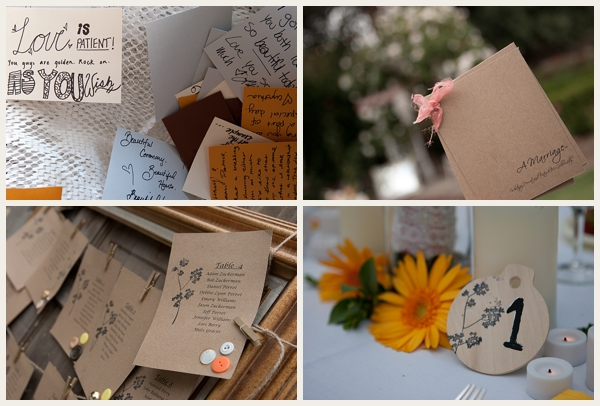 love note detailed wedding