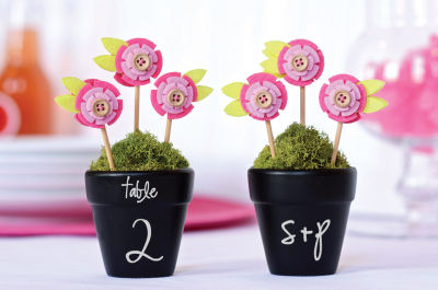 DIY Project: Chalkboard Flower Pot Table Numbers