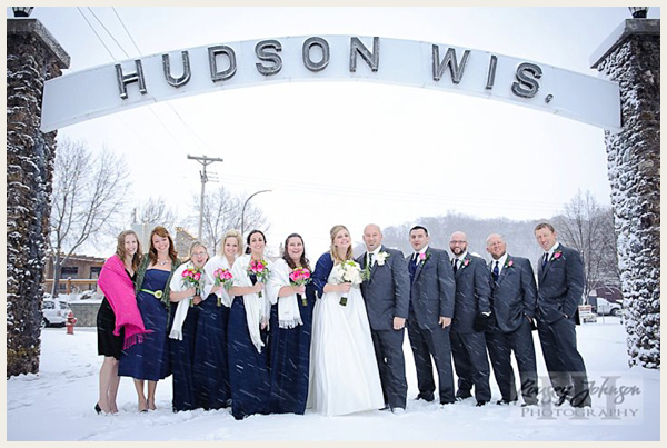 snowy November wedding in Wisconsin