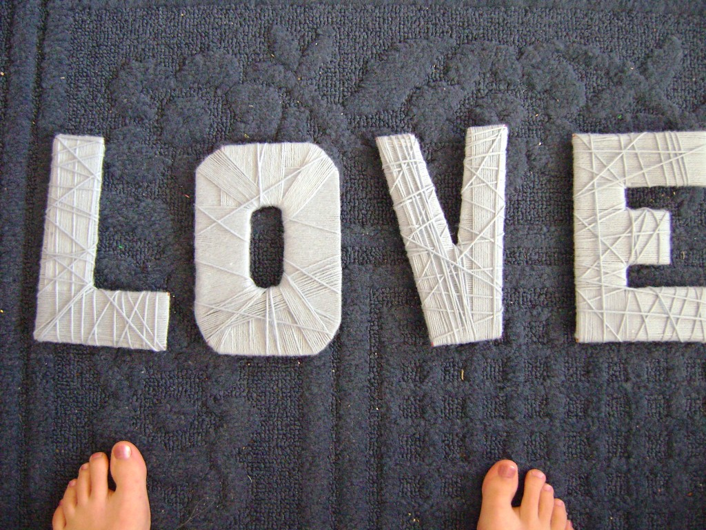 DIY project yarn letters