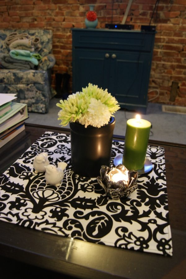 DIY Fabric Table Squares