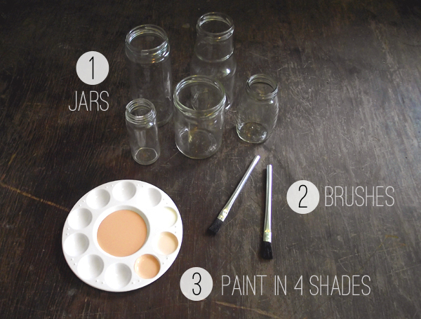 Ombre Painted Jars by Stockroom Vintage