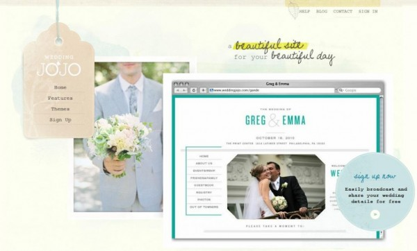 weddingjojo 1 600x362 in Wedding Website Wows and blog
