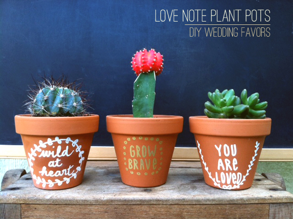 Love Note Succulent Favors by Stockroom Vintage