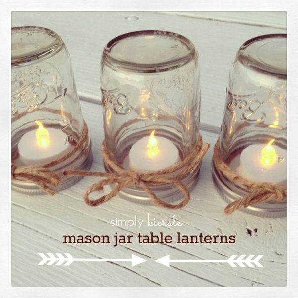 mason jar lanterns inspiration