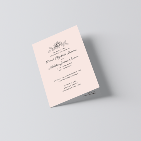 Catholic Wedding Program Template